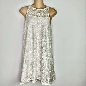 Free People Lace Dress Sleeveless Keyhole Back